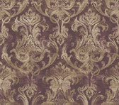 ARS26037 Elsa Blackberry Ornate Damask Wallpaper Wallpaper