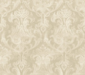 ARS26038 Elsa Wheat Ornate Damask Wallpaper Wallpaper