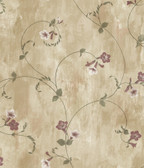ARS26091 Shiva Gold Trumpet Floral Vine Wallpaper Wallpaper