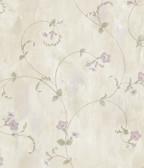 ARS26094 Shiva Silver Trumpet Floral Vine Wallpaper Wallpaper