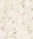 ARS26096 Shiva Violet Trumpet Floral Vine Wallpaper Wallpaper