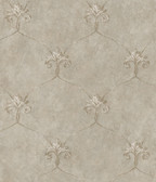 ARS26164 Tuscan Taupe Shimmering Ogee Wallpaper Wallpaper