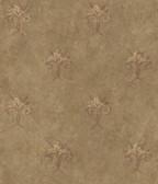ARS26165 Tuscan Brown Shimmering Ogee Wallpaper Wallpaper