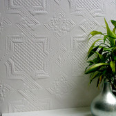 RD0655 Seymour Paintable Supaglypta Wallpaper
