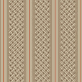 Botanical Fantasy SA9151 Basketweave Khaki Wallpaper