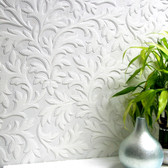 RD80026 High Leaf Paintable Textured Vinyl Wallpaper