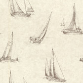2604-21201 Voyage Wheat Sailboats Wallpaper