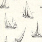 2604-21202 Voyage Fog Sailboats Wallpaper