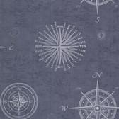 2604-21213 Navigate Ocean Vintage Compass Wallpaper