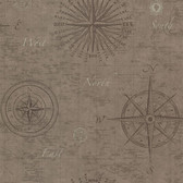 2604-21214 Navigate Wheat Vintage Compass Wallpaper