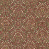 2604-21218 Cypress Burgundy Paisley Damask Wallpaper