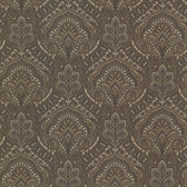 2604-21221 Cypress Charcoal Paisley Damask Wallpaper