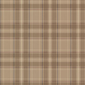 2604-21222 Caledonia Beige Plaid Wallpaper