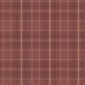 2604-21224 Caledonia Burgundy Plaid Wallpaper