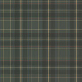 2604-21225 Caledonia Dark Green Plaid Wallpaper