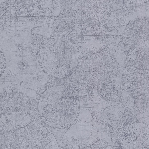 2604 21236 Cartography Blue Vintage World Map Wallpaper