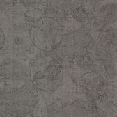Oxford 2604-21239 - Cartography Vintage World Wallpaper Pewter