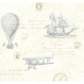 Oxford 2604-21241 - Explorer Antique Map Wallpaper Teal