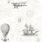 Oxford 2604-21244 - Explorer Antique Map Wallpaper Fog