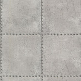 2604-21252 Riveted Silver Industrial Tile Wallpaper