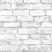Oxford 2604-21261 - Brickwork Exposed Wallpaper Grey
