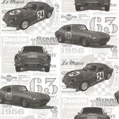 Oxford 2604-21263 -  Road Trip Antique Cars Wallpaper Charcoal