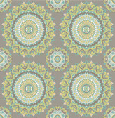 2766-001804 Priya Light Brown Medallion Wallpaper