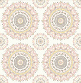 2766-001805 Priya Blush Medallion Wallpaper