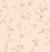 2766-002538 Jacqueline Rose Floral Scroll Wallpaper