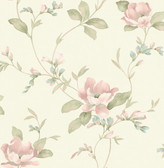 2766-003047 Glenville Cream Floral Scroll Wallpaper