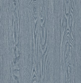 2766-003375 Groton Blue Wood Plank Wallpaper