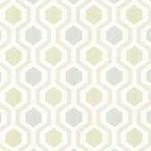 Kitchen & Bath Essentials 2766-20136 - Kelso Geometric Wallpaper Seafoam
