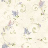 Kitchen & Bath Essentials 2766-21601 - Celandine Floral Scroll Wallpaper Cream