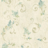 2766-21604 Celandine Beige Floral Scroll Wallpaper