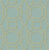 Kitchen & Bath Essentials 2766-21737 - Rumi Trellis Wallpaper Turquoise