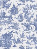 Kitchen & Bath Essentials 2766-21767 - Ume Toile Wallpaper Blue