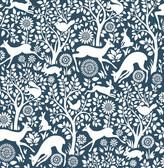 Kitchen & Bath Essentials 2766-22730 - Seeger Meadow Wallpaper Denim