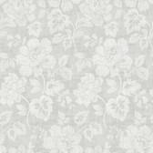 Kitchen & Bath Essentials 2766-22736 - Tansy Floral Scroll Wallpaper Light Grey