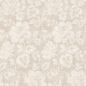 Kitchen & Bath Essentials 2766-22737 - Tansy Floral Scroll Wallpaper Neutral
