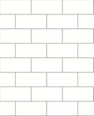 Kitchen & Bath Essentials 2766-23750 - Parkway Subway Tile Wallpaper White