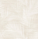 2766-24402 Motmot Cream Palm Wallpaper