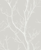 2766-24635 Laelia Light Grey Silhouette Tree Wallpaper