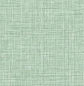 Kitchen & Bath Essentials 2766-24650 - Barbary Crosshatch Texture Wallpaper Green
