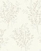 Kitchen & Bath Essentials 2766-40892 - Haworthia Glitter Leaf Wallpaper Neutral