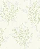 Kitchen & Bath Essentials 2766-40893 - Haworthia Glitter Leaf Wallpaper Green