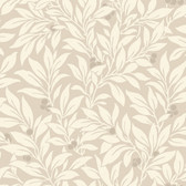 Kitchen & Bath Essentials 2766-42022 - Fasciata Mulberry Leaf Wallpaper Beige