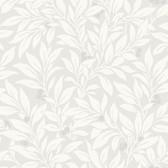 Kitchen & Bath Essentials 2766-42025 - Fasciata Mulberry Leaf Wallpaper Silver
