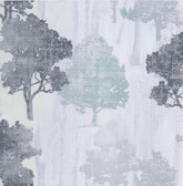 Kitchen & Bath Essentials 2766-95577 - Opuntia Tree Silhouettes Wallpaper Silver