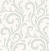 2766-96549 Bletilla Teal Scroll Wallpaper
