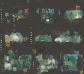Cloud Nine NN7271 - City Lights Wallpaper Black